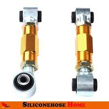 For 92-95 Honda Civic EG6 EJ1 Rear Lowering Suspension Toe Arm Bar Kit Yellow