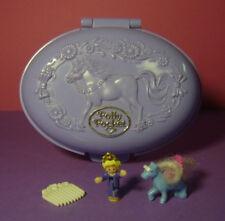 Polly Pocket Mini ♥ Unicorn Meadow ♥ cavalli Park ♥ 100% COMPLETO ♥ 1995 ♥ ♥ RAR