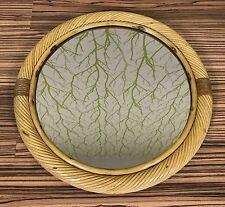 60er 70er Jahre Korbgeflecht Design Spiegel Round Wall Mirror Modern 60s Italy