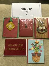 Lot of Papyrus Christmas Cards, total of 5. Brand New! $42 value