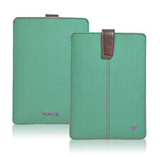 For Apple iPad Mini Case Antimicrobial Green Canvas Screen Cleaning Sleeve/Pouch