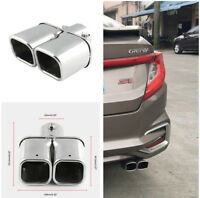 "1pcs 2.4"" Stainless Steel Dual Straight Pipe Exhaust Pipe Muffler Modification"