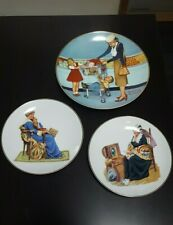 New Listing(5) Piece Norman Rockwell Lot Plates/Cups 1984