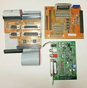 Set Of 3 x Amiga 4000T Modules, Ports, SCSI & Audio Video, Working But As-Is