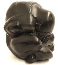 Escultura Yogi Yoga 20 cm de Suar Madera Negra Deco Figura Figura De Madera Arte