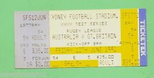 #D130. USED 1992  RUGBY LEAGUE TICKET - AUSTRALIA V GREAT BRITAIN