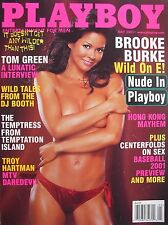 BROOKE BURKE  May 2001 Playboy CRISTA NICOLE  CENTERFOLDS ON SEX