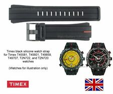 Genuine Timex T45581 T2N720 Silicone Watch Strap Band. Expedition E-tide Compass