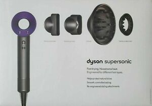 Dyson Supersonic Hair Dryer Hair Dryer - Purple W/ Attachments