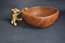Teak Obstschale Anbieteschale I Wood Bowl I Vintage Mid Century Design I 60/70er