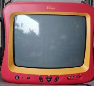 """13"""" MICKEY MOUSE DISNEY TV Vintage DT1350-C  CRT Television Tested"""