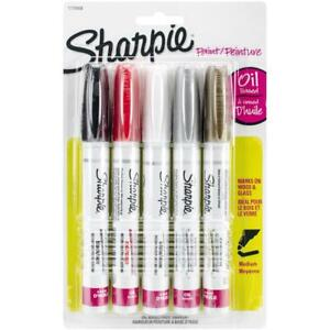 Sharpie Oil-based Paint Marker Medium Tip Pen - Set of 5 Colours