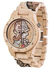Orologio in legno WeWood - ALPHA WOOP Misterphil Beige Wood Watch