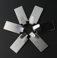 6 x Stainless Steel Self Adhesive Hook Key Rack Sticky Towel Hanger Wall Mount