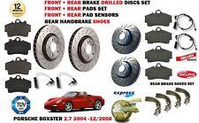 Pour Porsche Boxster 2.7 2004- > Avant Arrière Perforé Frein Disques Set +