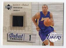 2005 Upper Deck Rookie Debut Threads #DT-BU Caron Butler Lakers
