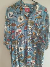 Super Bowl 37 Rayon Button Up Short Sleeve Shirt ! For The Football Collector