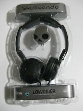 Brand New Black On the Ear Skullcandy Lowrider Foldable Headphones Gunmetal Grey