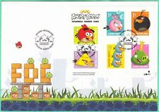 Angry Birds Priority Stamp Sheet Finland FDC 2013