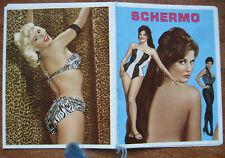 CALENDARIETTO da BARBIERE - ANNO 1968 - PIN UP - SCHERMO - CINEMA - FILMS, STARS