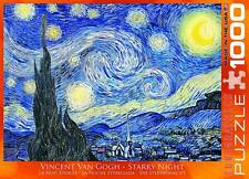EUROGRAPHICS JIGSAW PUZZLE STARRY NIGHT VINCENT VAN GOGH 1000 PCS IMPRESSIONISM