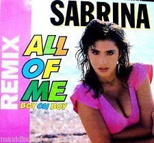 """12"""" - Sabrina – All Of Me (Boy Oh Boy) (ITALO) GERMANY EDIT 1988, MINT, NUEVO"""