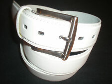 "Men's Genuine White Leather Belt 11/2""wide,For Golf Great Price,All Sizes!"
