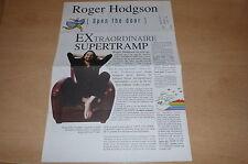 ROGER HODGSON OPEN DOOR!!!!RARE DELUXE FRENCH PROMO BIO