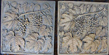 Grapes backsplash tile wall plaque sculpture home garden stone travertine marble