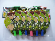 BEN 10 BIRTHDAY PARTY BLOWERS/BLOWOUTS  PK 6 NEW!