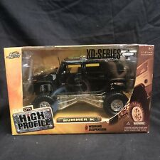 High Profile Hummer H2 Black XD Series Working Suspension Jada Toys 1:24 Scale