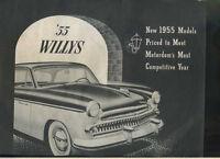 1955 Willys Custom & Bermuda Car Sales Brochure MBX38