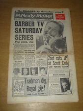 MELODY MAKER 1961 NOVEMBER 11 CHRIS BARBER SHADOWS ZOOT SIMS JOHN COLTRANE +