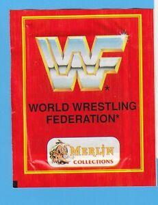 Full sticker bag pack bustina World wrestling federation WWF Merlin edition 1992