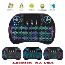 Backlit Mini Keyboard with TouchPad Mouse, Wireless 2.4Ghz - USA seller