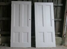 VICTORIAN PAINTED FOUR PANEL PINE DOORS - SOLD SEPERATELY ref 1117