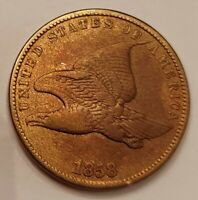 1858 Small Letters Flying Eagle Cent Grading XF Priced Right FREE S&H  i29