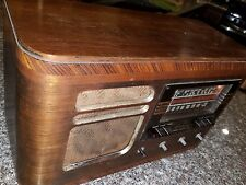 1939 RCA Victor Table Top Radio Model X60 tube Vintage short wave megacycles
