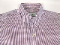 "Kowalski Mens Long sleeve shirt Size XL Collar 17"" Chest 48"" Blue & red check"