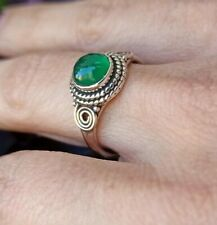 ANELLO DONNA ARGENTO 925 RING SILVER STERLING ONICE VERDE A55