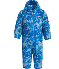 NEW COLUMBIA FROSTY FLAKE FLEECE SNOWSUIT BLUE INFANTS 12-18M BABY BOY FREE SHIP