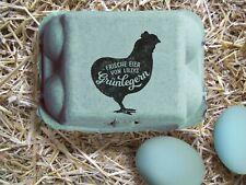 Stempel für Araucana Eier-Kartons   personalisierbarer Stempel f. Grünleger Eier