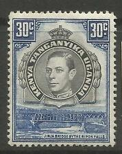 KENYA UGANDA & TANGANYICA. 1941. 30c Black & Blue Perf 14. SG:141a. MH.