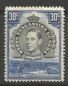 KENYA UGANDA & TANGANYICA. 1941. 30c Black & Blue Perf 14. SG:141a. MH