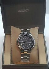 Greak Modern Seiko Chronograph 100M Stainless Steel 7T92-OCFO Mens Wrist Watch