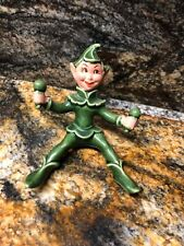 Vintage Ceramic Pixie Elf Playing Maracas Sitting Down 4 Inches Tall