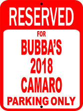 "Personalize CAMARO Chevy Novelty Reserved Parking Street Sign 7""X10"""