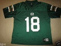 Colorado State Rams #18 Football Adidas Jersey LG L