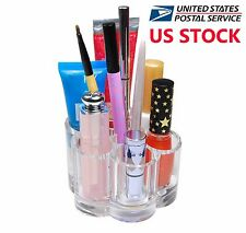 Flower Acrylic Plastic Cosmetic Organizer Makeup Brushes Holder US Stock