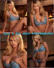 Ashlynn Brooke - 10x8 & 8x6 inch Photo's #m007 in Pastel Blue Lace Bra & Pants